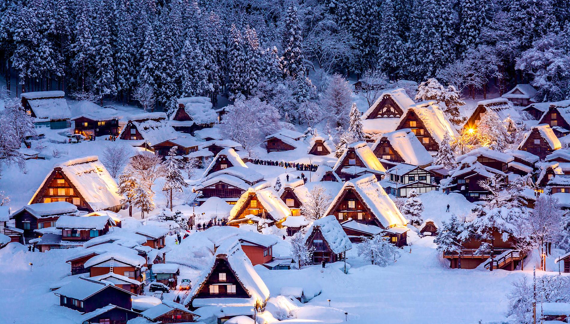 Vẻ đẹp không thể cưỡng lại của 3 ngôi làng cổ Nhật Bản vào mùa đông