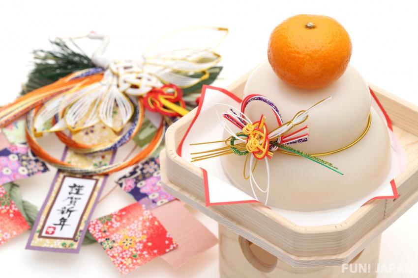 Những chiếc bánh Kagami mochi với mong muốn có một vụ mùa bội thu, cuộc sống sung túc