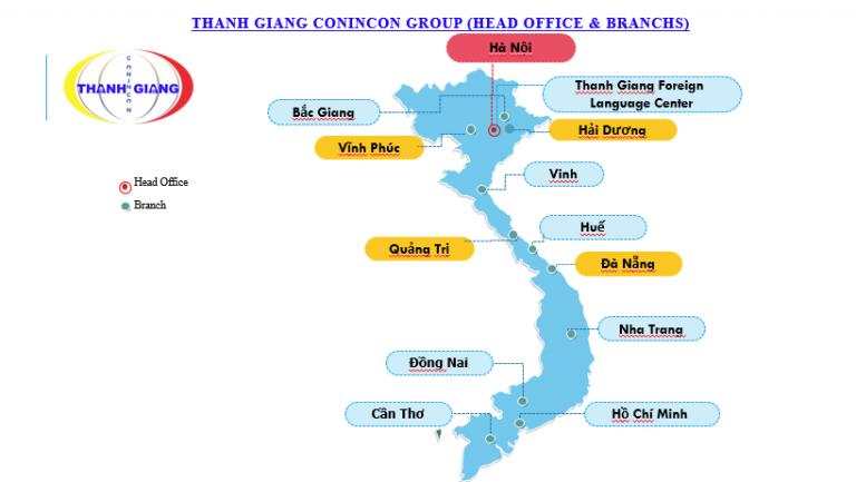 Hệ thống chi nhánh Thanh Giang trên toàn quốc
