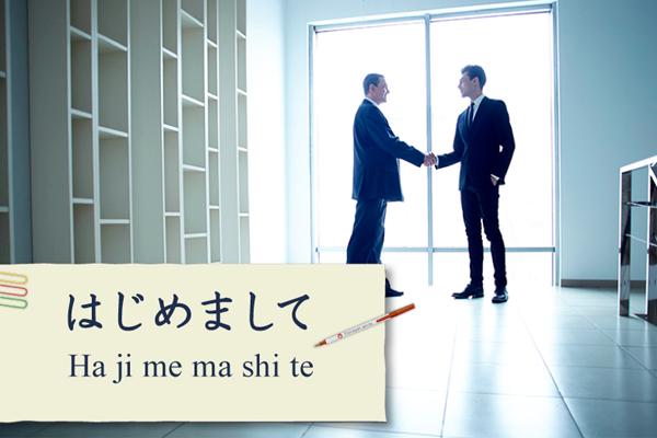 """""""Rất vui khi gặp bạn"""" trong tiếng Nhật nói như thế nào?"""