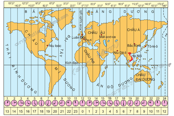 Bản đồ múi giờ thế giới