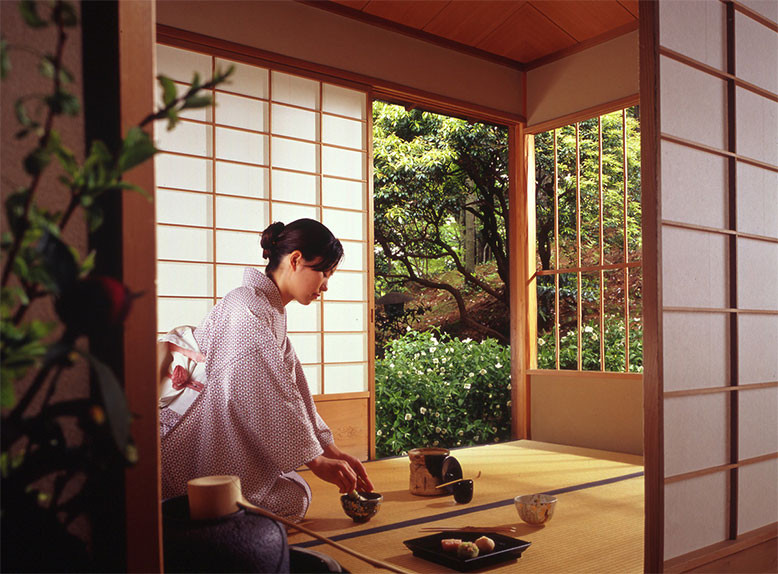 Không gian đặc trưng của phòng trà đạo Nhật Bản