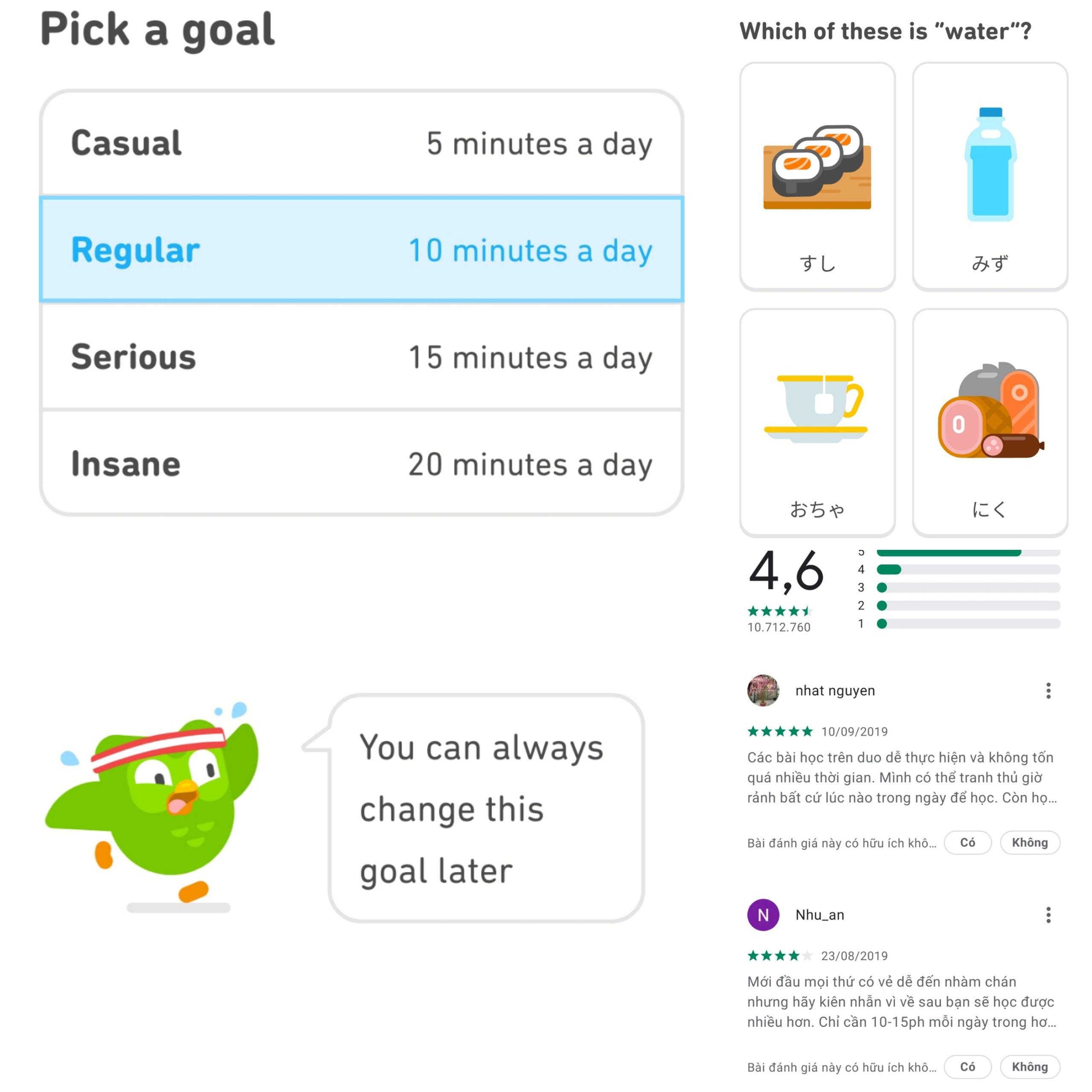 App học tiếng Nhật cho người mới bắt đầu Duolingo