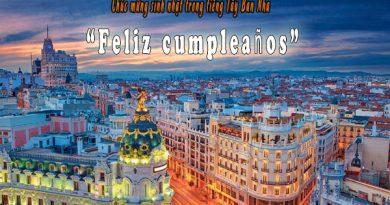 Những lời chúc sinh nhật hay bằng tiếng Tây Ban Nha