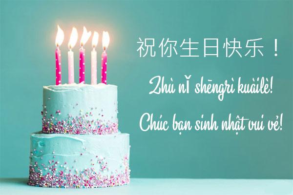 Những lời chúc sinh nhật hay bằng tiếng Trung