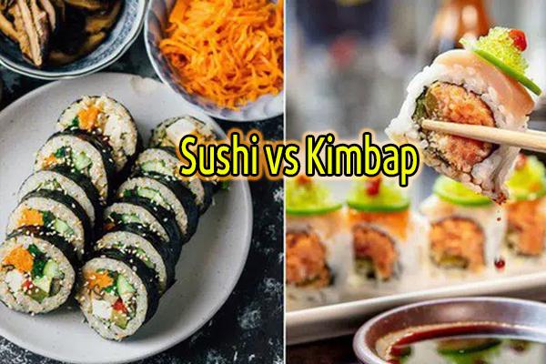 Đố bạn biết sushi và kimbap có gì khác nhau