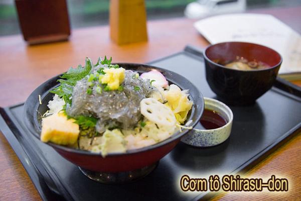 Cơm tô Shirasu–don là món ăn nổi tiếng nhất ở Kanagawa Nhật Bản