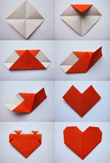 trái tim origami