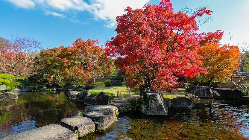 Khu vườn Koko-en với lối kiến trúc đặc trưng của Nhật Bản trong khuôn viên lâu đài