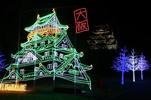 Lễ hội ánh sáng tại lâu đài là một trong những sự kiện mùa đông đặc tả văn hóa Nhật Bản