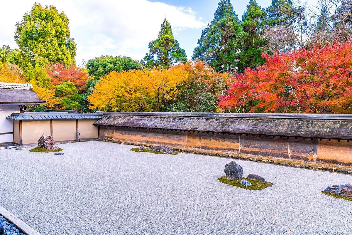 Vườn thiền Ryoanji tại cố đô Kyoto Nhật Bản
