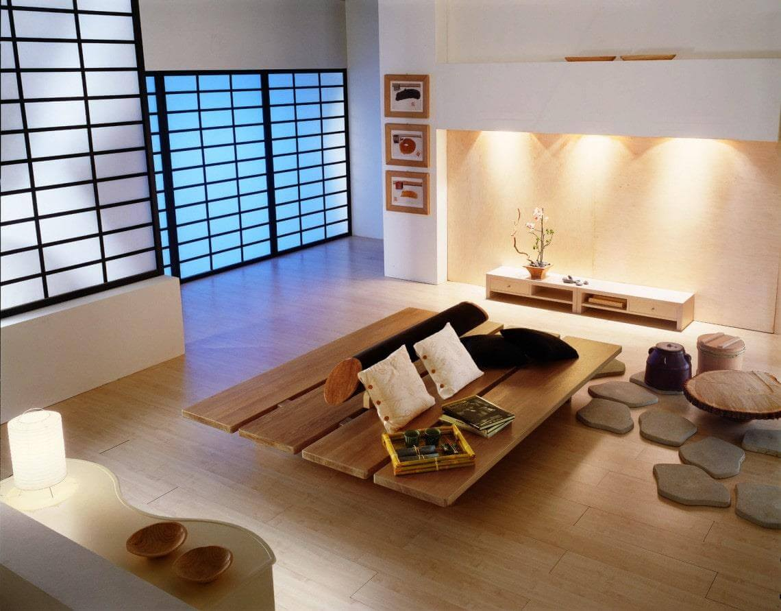 Đặc trưng nhà ở của người Nhật luôn mang phong cách đơn giản.