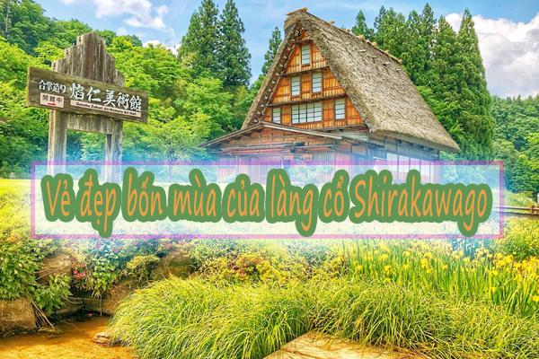 Khám phá vẻ đẹp bốn mùa của làng cổ Shirakawago