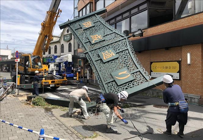 Bão Faxai ở Nhật Bản gây nên nhiều thiệt hại về người và vật chất