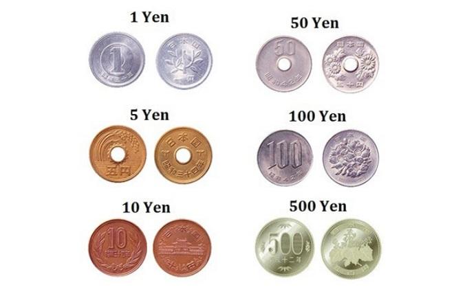 Các mệnh giá đồng xu Nhật Bản