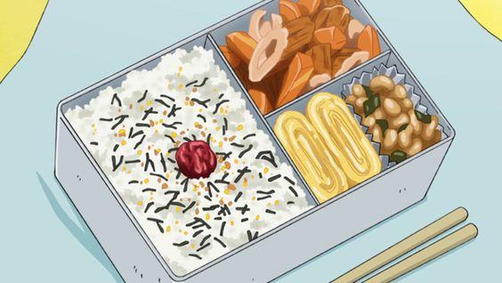 Trứng cuộn trong những hộp cơm Nhật Bản quen thuộc trong thế giới anime