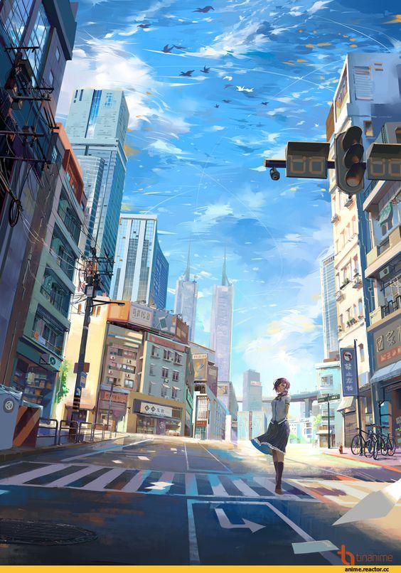 Bạn có biết đây là khung cảnh thành phố trong bộ anime nổi tiếng nào không?
