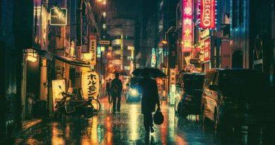 đường phố Nhật Bản về đêm