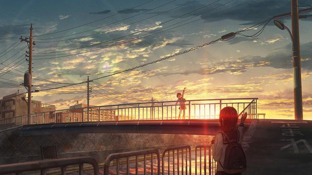 Khung cảnh hoàng hôn trong anime