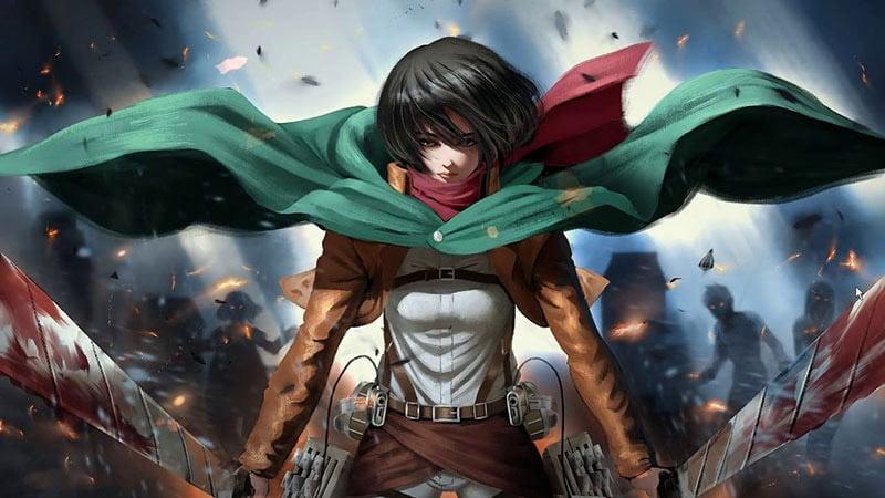 Nhân vật anime nữ ngầu Mikasa Ackerman