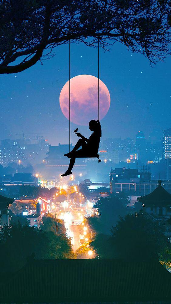 Phong cảnh anime Đêm